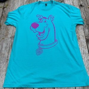 Scooby Doo / Doo Good Blue Pink Shirt XL